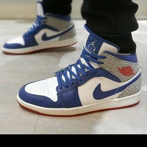 Nike Shoes - 💯Air Jordan 1- MID- True Blue- Original Box! b6520d65b0f5